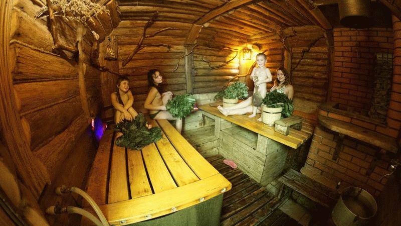 Двухэтажный дом баня