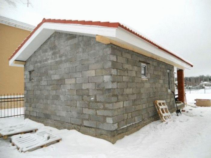 Строительство бани из пеноблоков