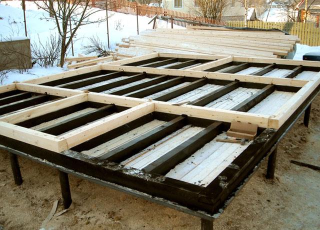 Фундамент для бани на винтовых сваях