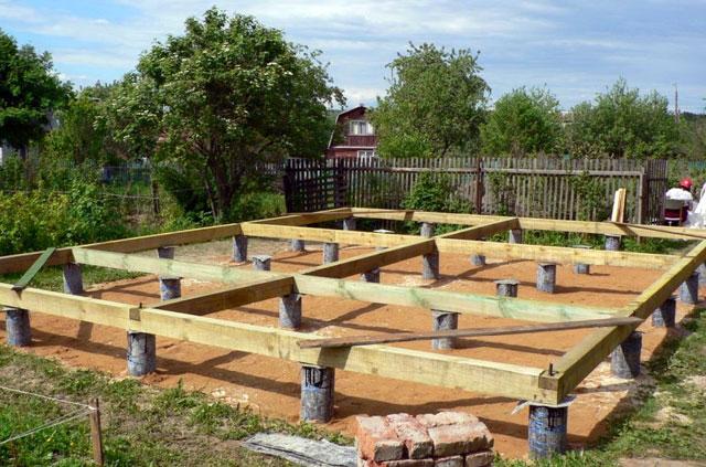 Свайный фундамент для бани - Всё о бане