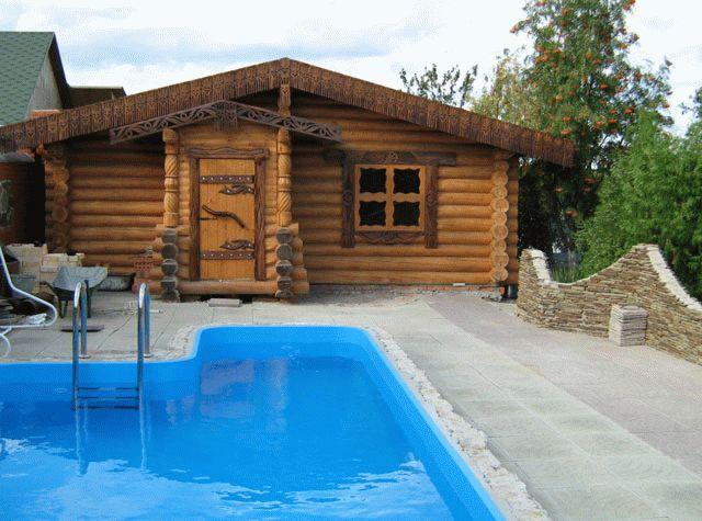 Большие бани с бассейном