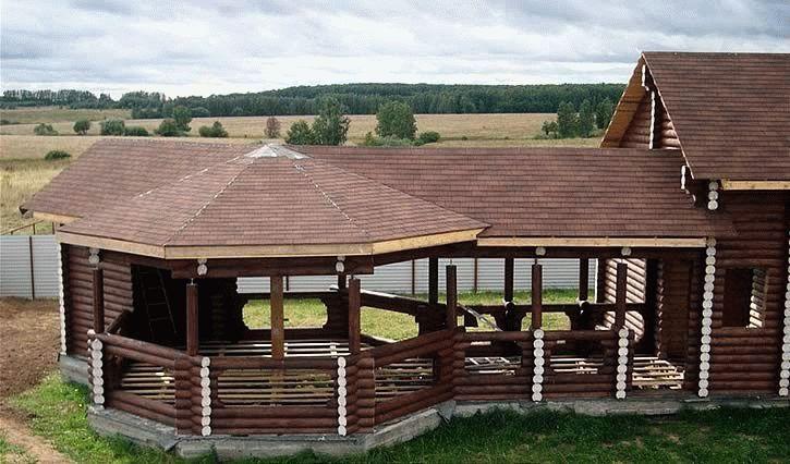 Беседки вместе с баней под одной крышей