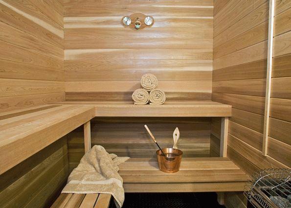 Материал для отделки бани внутри
