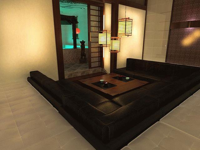 Оформление комнаты отдыха в бане