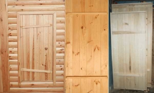 Делаем входную дверь в баню