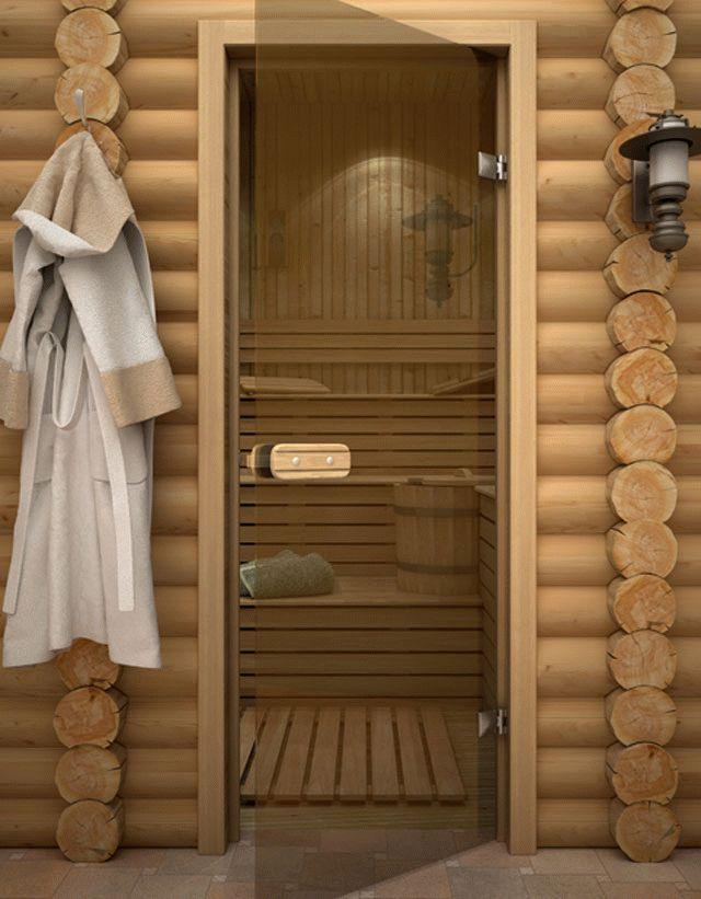 Стеклянные двери в баню - Строим баню или сауну