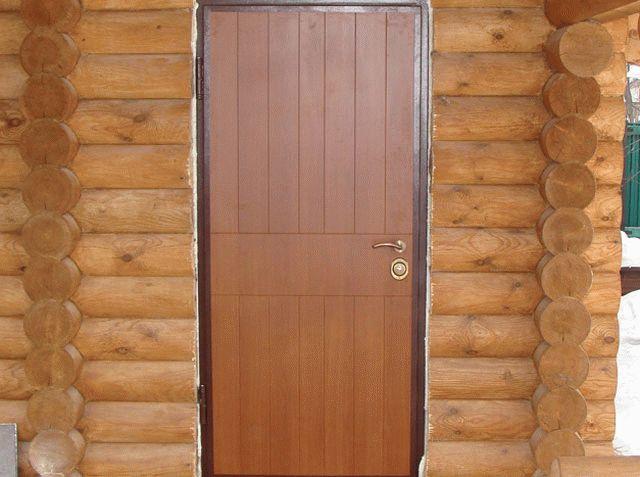 Установка двери в парилку бани