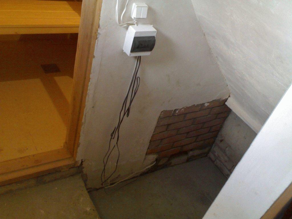 Монтаж бани с электро печкой своими руками