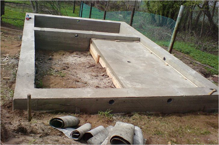 Фундамент под баню - Строим баню или сауну