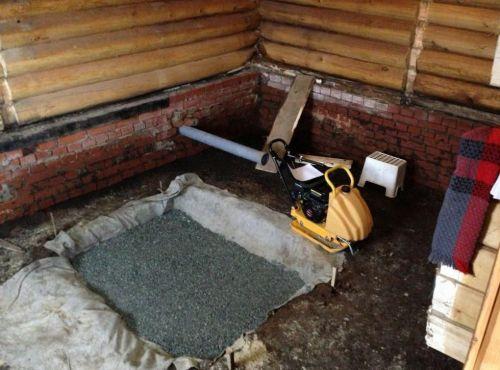Установка печи в бане с выносной топкой