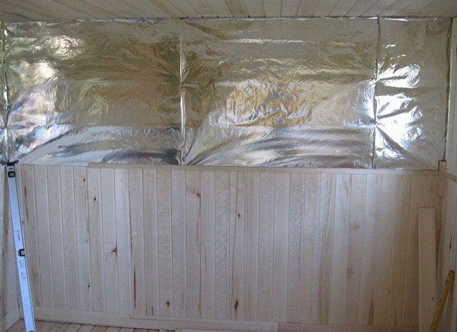 Чем крепить вагонку к потолку в бане