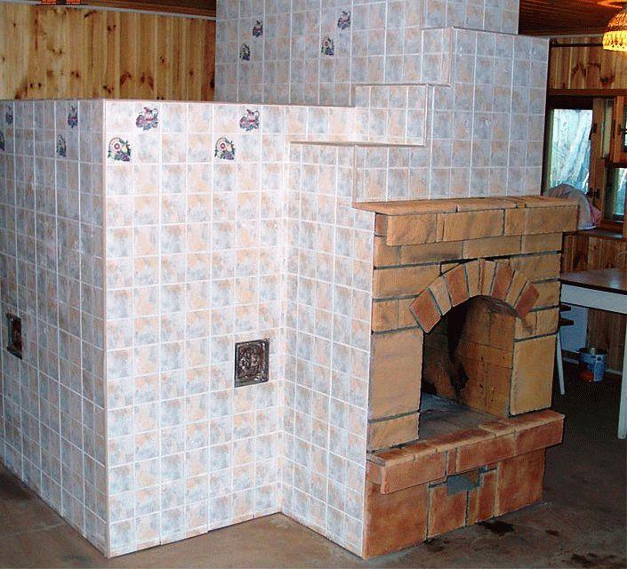 Плитка под печь в баню