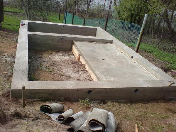 Простой фундамент для бани - Строим баню или сауну