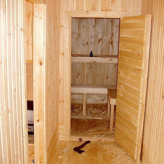 Расположение дверей в бане