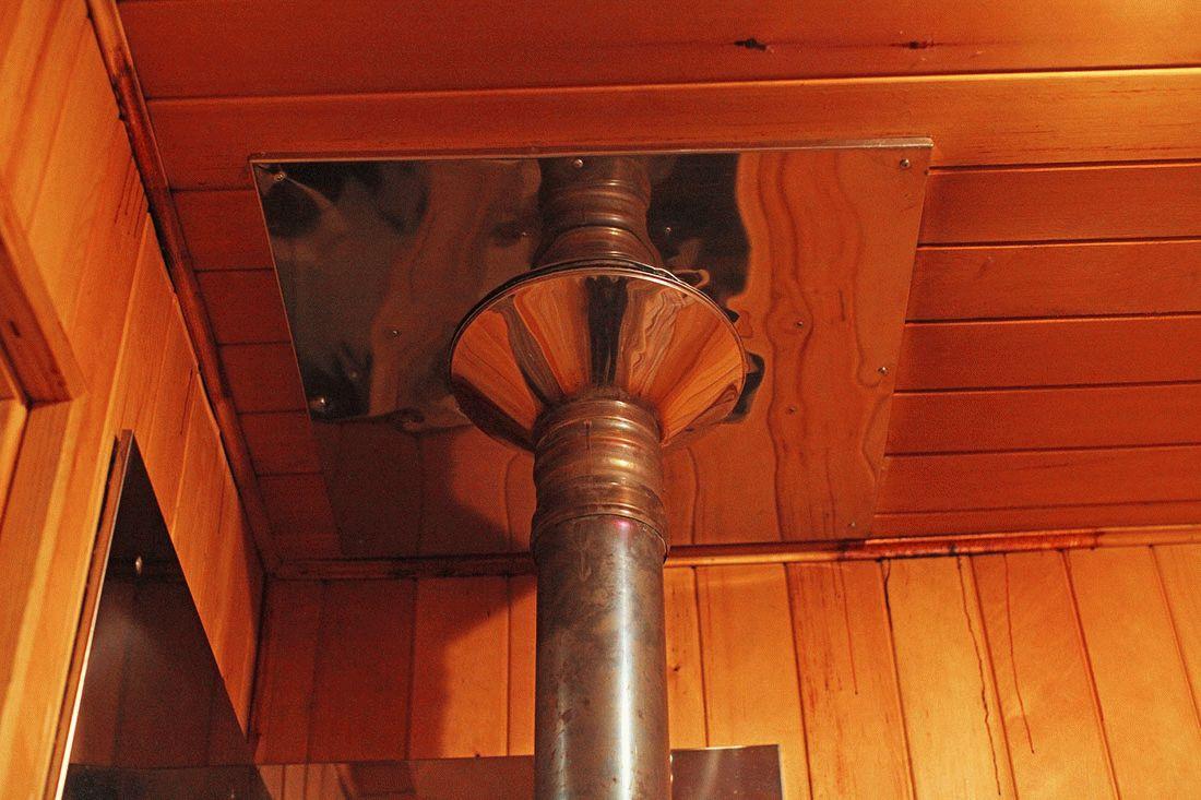 Труба в бане через потолок и крышу своими руками фото 358