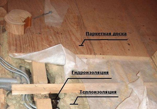 Утепление пола по лагам - Строим баню или сауну